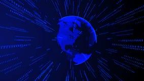 Fondo commerciale futuristico digitale di Internet della terra Immagine Stock Libera da Diritti