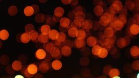Fondo commovente del mazzo leggero delle lanterne stock footage