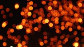 Fondo commovente del mazzo leggero delle lanterne archivi video