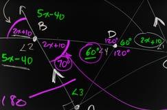 Fondo complejo de las matemáticas imagen de archivo libre de regalías