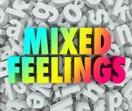 Fondo complejo del revoltijo de la letra de las emociones de los sentimientos encontrados libre illustration
