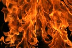 Fondo completo de la llama Foto de archivo libre de regalías