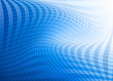 Fondo comprobado azul abstracto del remolino Ilustración del Vector