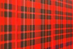 Fondo comprobado escocés del modelo Foto de archivo libre de regalías