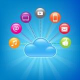 Fondo computacional de la nube Fotos de archivo libres de regalías