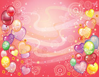 Fondo con balloons_red Fotografie Stock