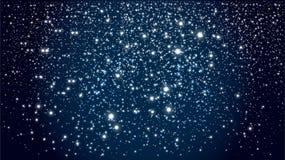Fondo con cielo notturno stellato immagini stock