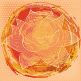 Fondo con colores del loto y de agua Imagen de archivo