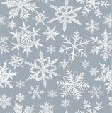 Fondo con copos de nieve Fotografía de archivo libre de regalías