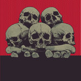Fondo con cráneos
