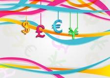 Fondo con curency stock de ilustración
