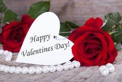 Fondo con día de tarjetas del día de San Valentín feliz Fotos de archivo