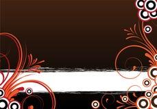 Fondo con diseño floral Foto de archivo libre de regalías