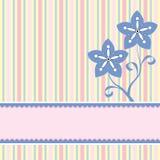 Fondo con dos flores Fotos de archivo libres de regalías