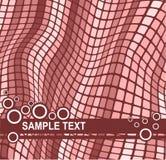 Fondo con efecto ondulado del mosaico Foto de archivo libre de regalías