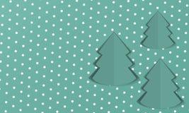 Fondo con el árbol de navidad de papel Foto de archivo