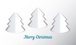 Fondo con el árbol de navidad de papel Imagen de archivo libre de regalías
