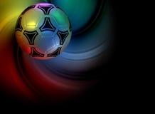 Fondo con el balón de fútbol Foto de archivo