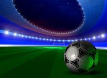 Fondo con el balón de fútbol Fotos de archivo