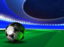 Fondo con el balón de fútbol Imágenes de archivo libres de regalías