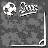 Fondo con el balón de fútbol Fotografía de archivo libre de regalías