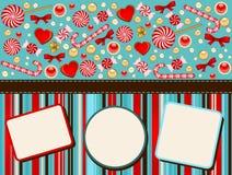 Fondo con el bastón de caramelo. libre illustration