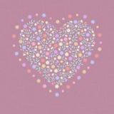 Fondo con el corazón Fotografía de archivo libre de regalías