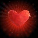 Fondo con el corazón rojo Fotografía de archivo