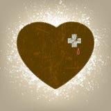 Fondo con el corazón del grunge. EPS 8 Imagen de archivo libre de regalías