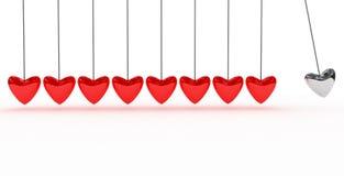 Fondo con el corazón rojo Fotos de archivo