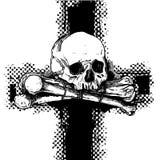 Fondo con el cráneo Imagenes de archivo