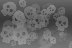 Fondo con el cráneo Fotografía de archivo