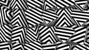 Fondo con el cubo blanco negro de las formas libre illustration