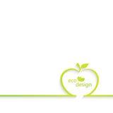 Fondo con el esquema de la manzana puede ser utilizado para Foto de archivo