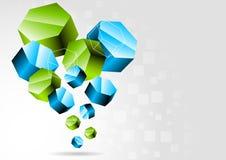 Fondo con el hexágono 3d Imagen de archivo libre de regalías