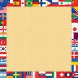 Fondo con el marco de las banderas Fotos de archivo