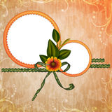 Fondo con el marco y las flores Imagen de archivo