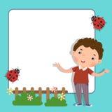Fondo con el muchacho lindo stock de ilustración