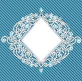 Fondo con el ornamento con las piedras preciosas Imagen de archivo libre de regalías