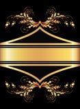 Fondo con el ornamento de oro Foto de archivo libre de regalías