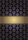 Fondo con el ornamento del oro ilustración del vector