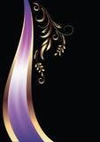 Fondo con el ornamento y la cinta elegante ilustración del vector