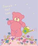 Fondo con el oso de peluche Foto de archivo libre de regalías
