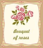 Fondo con el ramo de rosas Fotos de archivo