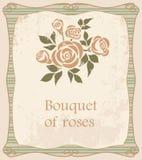 Fondo con el ramo de rosas Foto de archivo libre de regalías