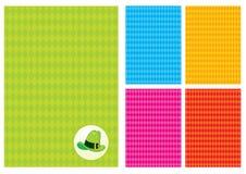 Fondo con el Rhombus y un sombrero verde Imagen de archivo