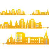 Fondo con el sistema de edificios urbanos Imagen de archivo