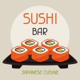 Fondo con el sushi Fotografía de archivo