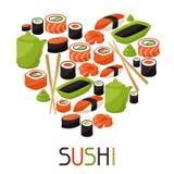 Fondo con el sushi Imágenes de archivo libres de regalías
