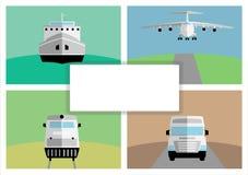 Fondo con el transporte abstracto de la carga Ilustración del Vector